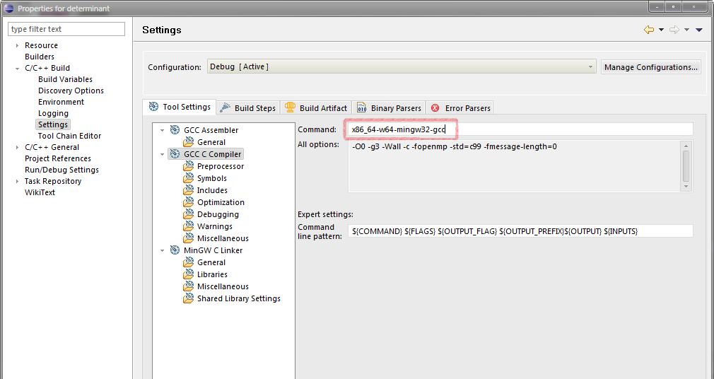 Eclipse CDT with MinGW 64 – nullteilerfrei